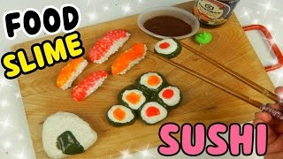 SLIME FOOD (SLIME SUSHI E SALSA DI SOIA) Slime Most Satisfying +ASMR  Iolanda Sweets