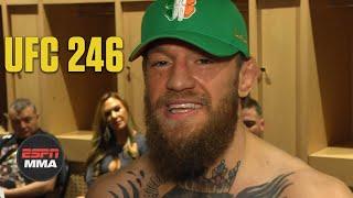 Conor McGregor emotional after Cowboy Cerrone TKO win at UFC 246   ESPN MMA