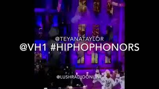 Teyana Taylor performs at VH1 Hip Hop Honors 2017