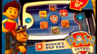 PAW PATROL Ryder's Pup Pad Paw Patrol Toy From Nickelodeon with Paw Patrol pups Rocky, Chase, Rubble