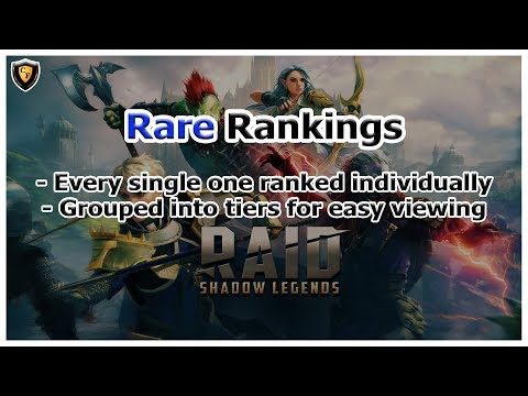 RAID Shadow Legends | Rare Rankings | Complete Tier List