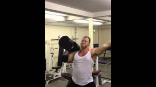 Forge Gym Dumbbell Press Challenge - Rob - 26 reps