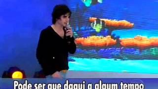 Fábio Jr chora no Programa do Faustao
