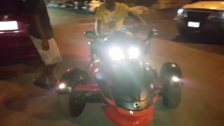 Aidonia testing the new Can Am on his Birthday (April 6th 2017)