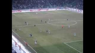 Legia-Sporting EL 2012.02.16. Ole ole-ole ola I Tylko Legia Legia Warszawa (2)