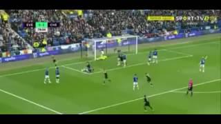 Cahill Goal Everton 0-2 Chelsea 30/04/2017