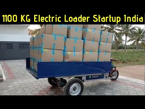 Electric Loader 3-Wheel Off Road Vehicle Startup India