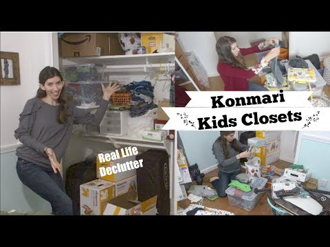 KONMARI METHOD KIDS CLOSETS | ULTIMATE CLEAN WITH ME MOTIVATION | Momma From Scratch