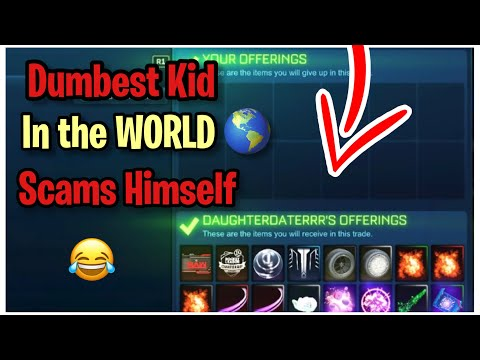 Dumbest Kid in The WORLD Scams Himself! (Scammer Gets Scammed) Rocket League