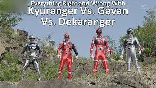 Everything Right and Wrong With Kyuranger Vs. Gavan Vs. Dekaranger