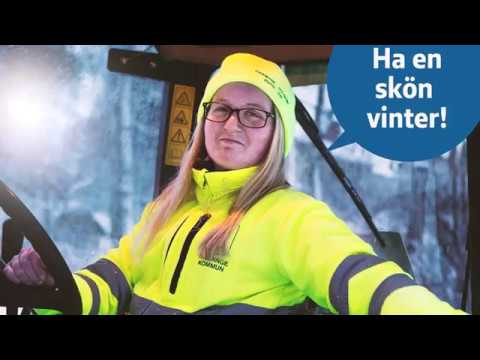 Huddinge kommuns arbete med snöröjning och halkbekämpning