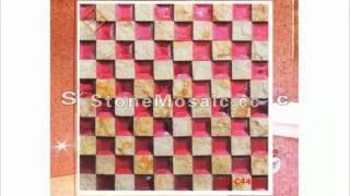 pink mosaic bathroom tiles video