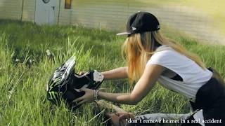 Stunt rider meets girl !