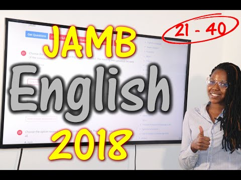 JAMB CBT English 2018 Past Questions 21 - 40