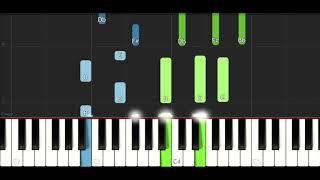 Anitta & J Balvin - Downtown (EASY Piano Tutorial Instrumental)