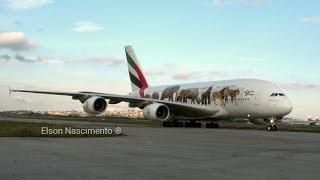 Pouso do A380 da Emirates Em GRU/SBGR - 2017