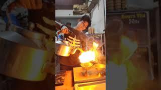 Firing Tea at Ratri Bazar, Vadodara