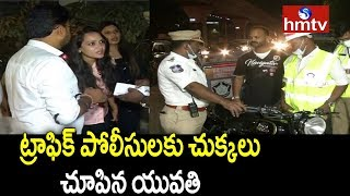Drunken Women Hulchul in Jubilee Hills || Drunk & Drive Test || Hyderabad || hmtv