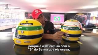 BBC | Hamilton explica capacete em tributo a Senna - GP Brasil 2011