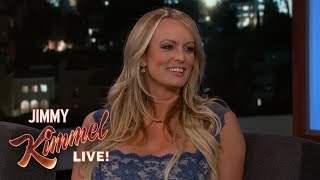 Jimmy Kimmel's FULL INTERVIEW with Stormy Daniels width=