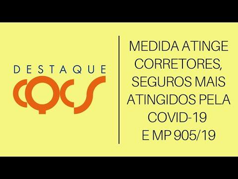 Imagem post: Medida atinge Corretores, Seguros mais atingidos pela COVID-19 e MP 905/19