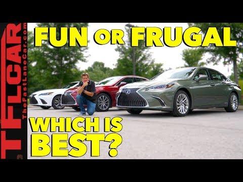 Compared: 2019 Lexus ES vs F-Sport vs Hybrid Review
