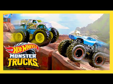 EXTREME Desert Mountain Challenge! | Monster Trucks | Hot Wheels