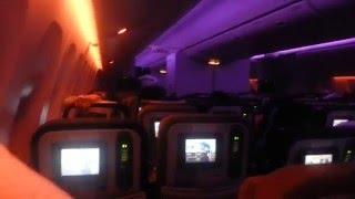 Interior do vôo para Angola