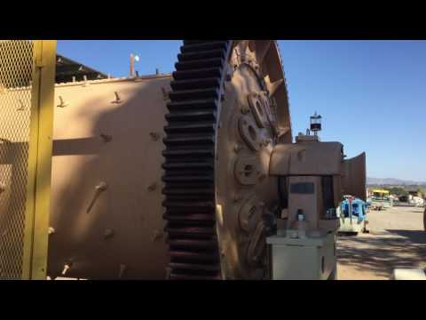 6K SM01 1 Unit - ALLIS CHALMERS 6' x 9' Ball Mill with 200 HP Motor Running Video Sep 16 2016