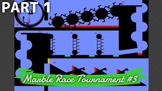 Marble Race Tournament #3: 12 Teams - Part 1/3 (Groups) | Bouncy Marble