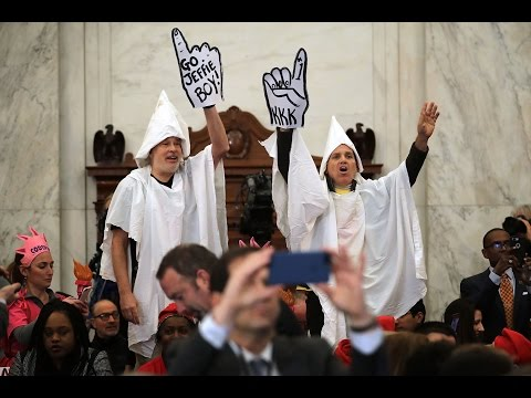 Protests interrupted Jeff Sessions confirmation hearing
