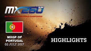 EMX 250cc Race2 - Highlights - MXGP of Portugal 2017