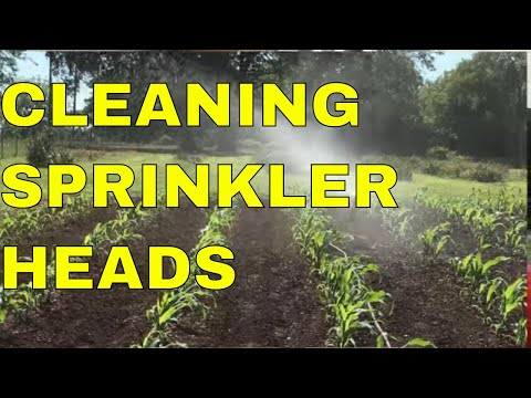 CLEANING CLOGGED SPRINKLER HEADS