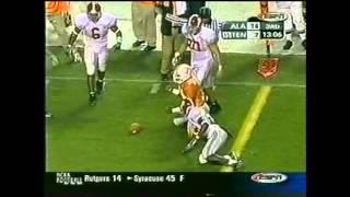 2002 #19 Alabama vs. #16 Tennessee Highlights