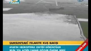 Samsun'daki felakete kuş bakışı.mp4