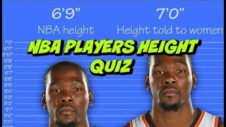 "NBA HEIGHT QUIZ 2018 - ""NBA PLAYERS LYING ABOUT THEIR HEIGHTS?"" 🤔"