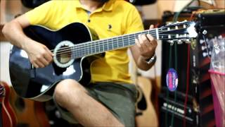Barcelona LC3900C Kesik Kasa Klasik Gitar