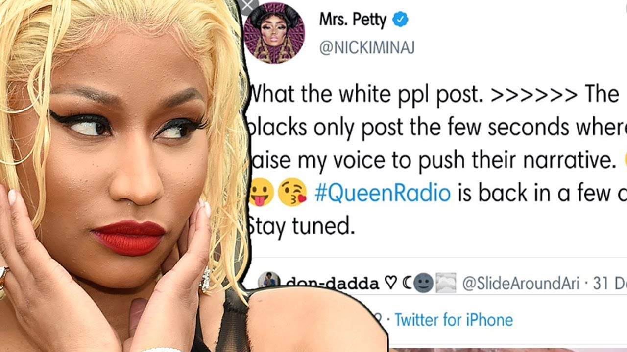 Nicki Minaj suffers serious backlash over deleted Tweet preferring White Media Coverage over Black!