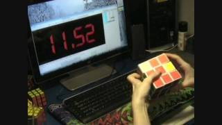 HUGE rubik's cube solved in 21''92 seconds