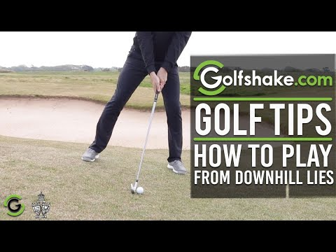 How To Play From Downhill Lies - Improve Your Iron Play Series