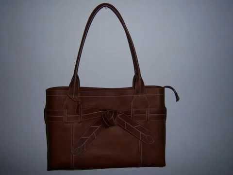 Large Handmade Leather Handbags Designed by Karen G