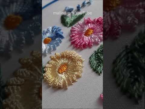 Floral Embroidery   Dimensional Stitches   tutorial   #shorts
