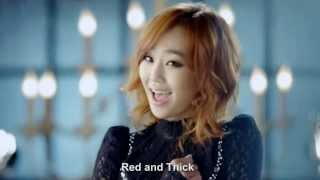 Hyorin Red Lipstick ft. Zico Music Video HD English Subs + Romanization 2014 M/V