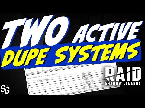 Two active dupe systems - Get it going - RAID SHADOW LEGENDS