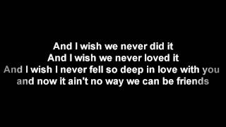 Trey Songz - Can't Be Friends Lyrics