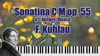 Friedrich Kuhlau- Sonatina in C major op.55 no 1 (I Allegro/II Vivace)