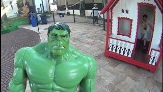 Hulk Marvel Avengers Boneco Muñeco Parque Casa de Boneca Escorrega Brinquedos Toys Huguetes Kids