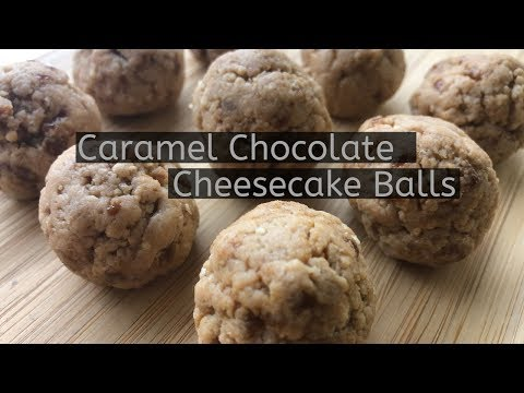Caramel Chocolate Cheesecake Balls Using Protein Bars!