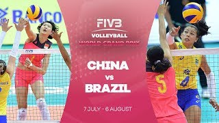 China v Brazil highlights - FIVB World Grand Prix