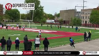 La catapulta del portero Elias Lomeli del San San vs Real Celaya en Chicago
